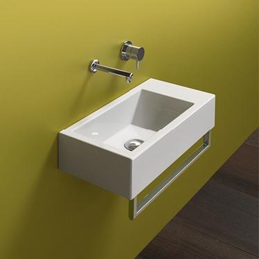 lavabos pequeos Sinergia y materiales