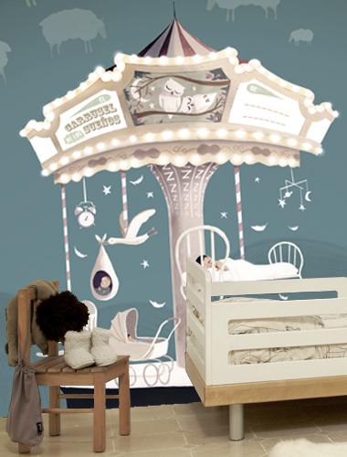 37 papel pintado tres tintas carousel of dreams poveda1 - Papel pintado tres tintas ...