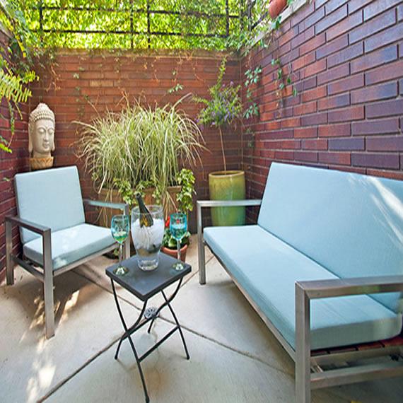 Terraza peque a decoracion poveda16 sinergia y materiales - Decoracion terraza pequena ...