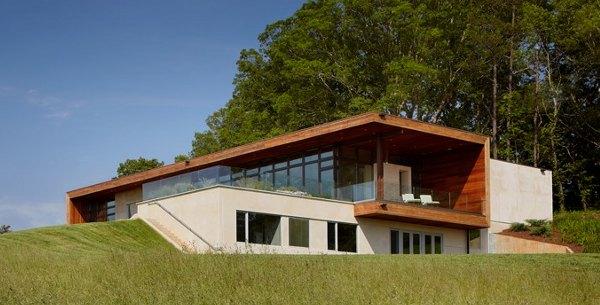 casa en desnivel-Casa-Laicester-sostenible-cubierta-verde – Sinergia ...