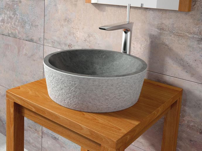 Lavabo piedra encimera dual bathco sinergia y materiales - Lavabos de piedra rusticos ...