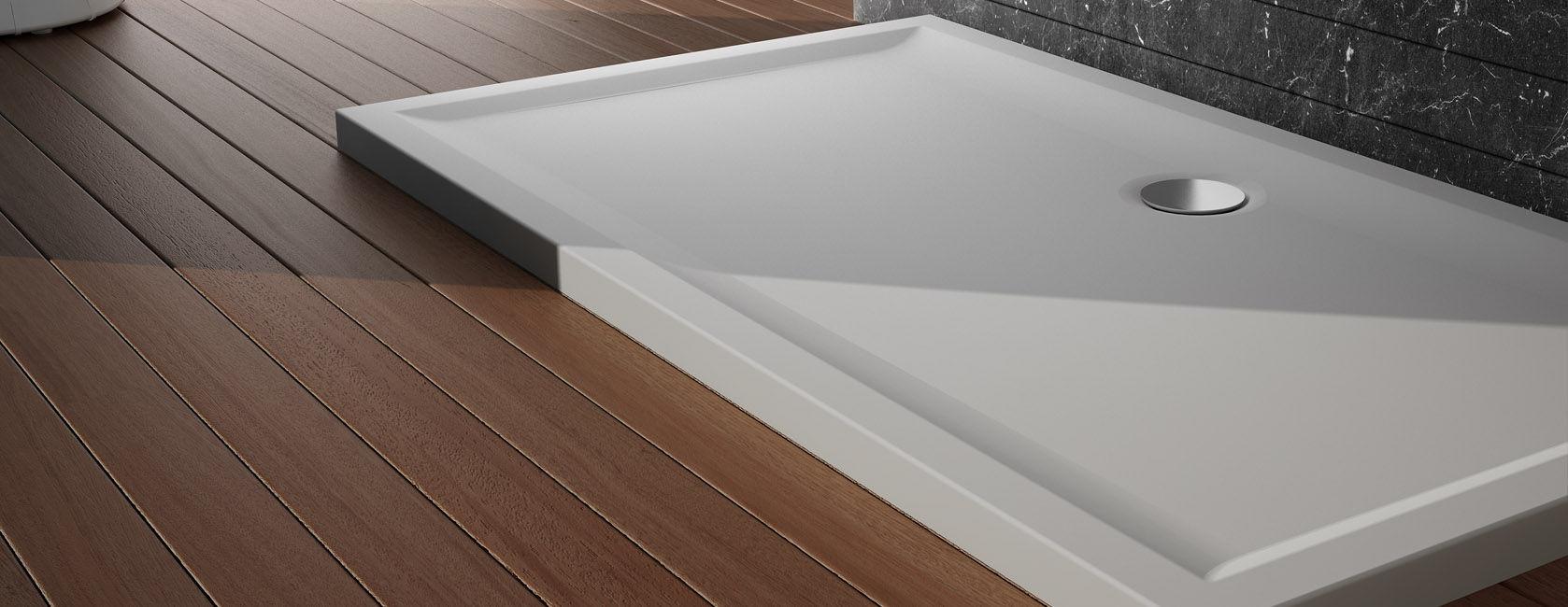 Perspective plato de ducha teuco sinergia y materiales for Accesorios para platos de ducha