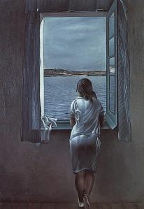 aaa-mujer mirando por la ventana - Salvador Dali