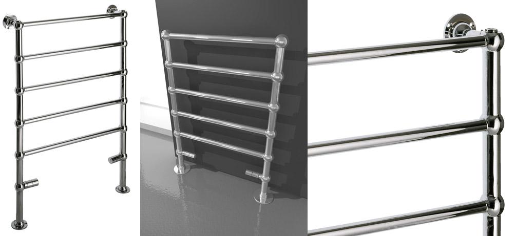 Radiador toallero empire adhoc sinergia y materiales - Cambiar radiador por toallero ...