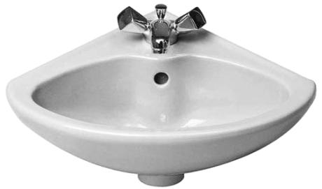 Lavabo esquina porcelana 440 380 duraplus duravit - Lavabo de esquina ...