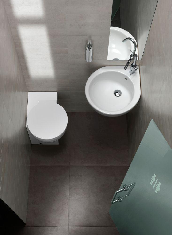 Lavabo de rincón o esquina de Hatria, modelo You & Me, de 46x46