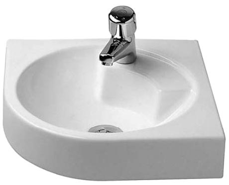 Lavabo esquina porcelana 635 540 architec duravit - Lavabo de esquina ...