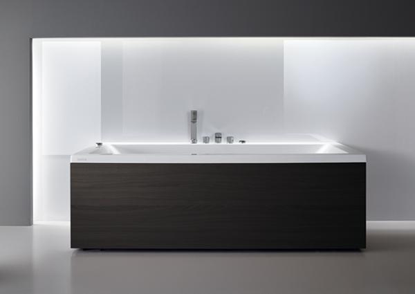 Bañera-acrilico-Wilmote-panel acabado antracita-Teuco