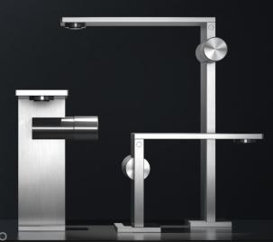 Grifo de acero lavabo radomonte aico diseño griferia almacenes poveda