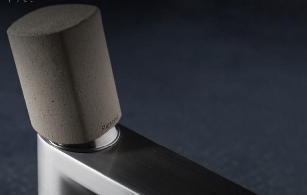 grifo acero ritmonio haptic griferia diseño design inox almacenes poveda