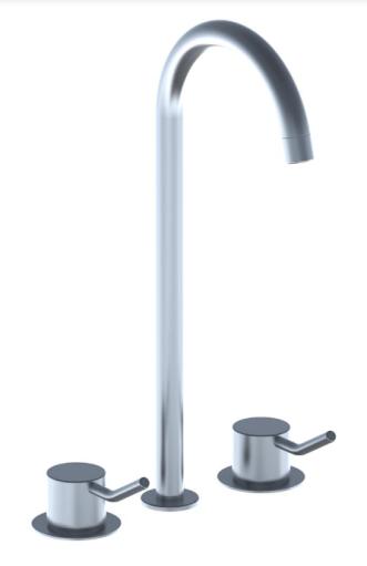 grifo lavabo acero vola hv griferia diseño almacenes poveda